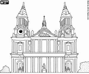 Desenho De Catedral De Saint Paul Londres Para Colorir