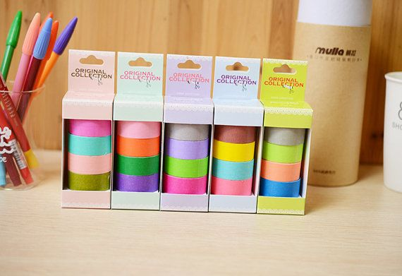 20 Rolls Solid Color Washi Tapes  Japanese Washi Tape  by mieryaw, $26.99