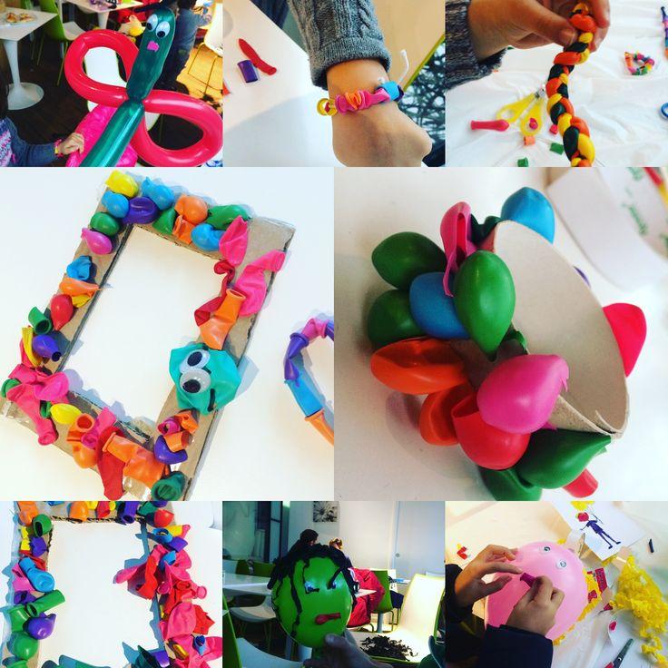 Balloons ideas ricycle riciclo palloncini lavoretti bambini laboratorio creativo by www.babyeventimilano.com