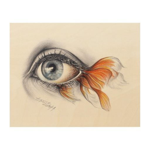 Graphite and colored pencils surrealistic drawing.