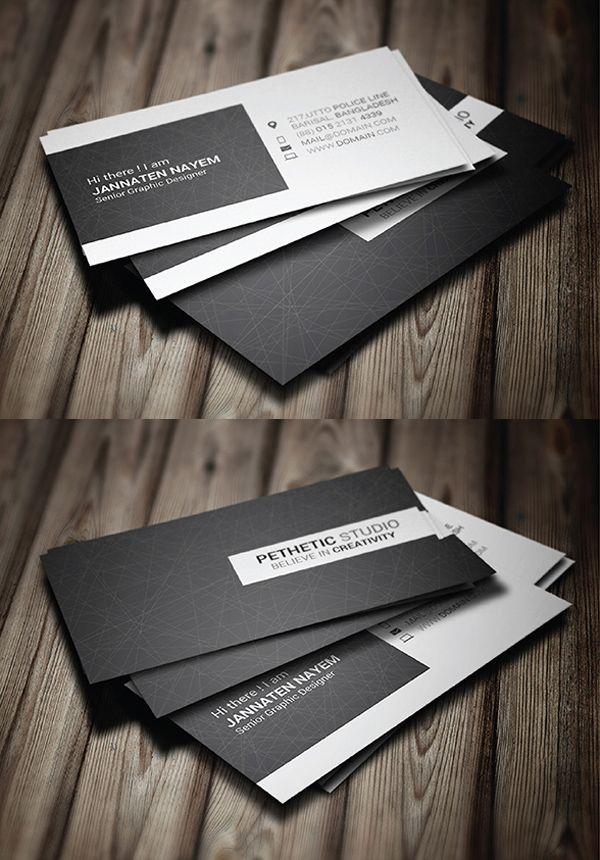 Minimal Business Card Template #businesscards #businesscardtemplates #custombusinesscards