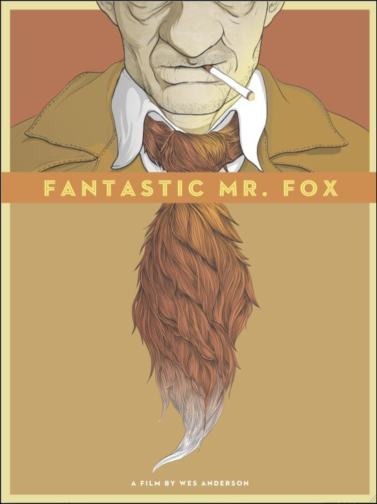 """""""We Got the Tail, but We Missed the Fox"""" Fantastic Mr. Fox Movie Poster  Randy Ortiz"""