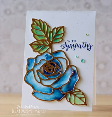 Sympathy card featuring Stampin Up's Rose Wonder for JAI#392 by Jan McQueen. More info@www.janscreatvecorner.blogspot.com