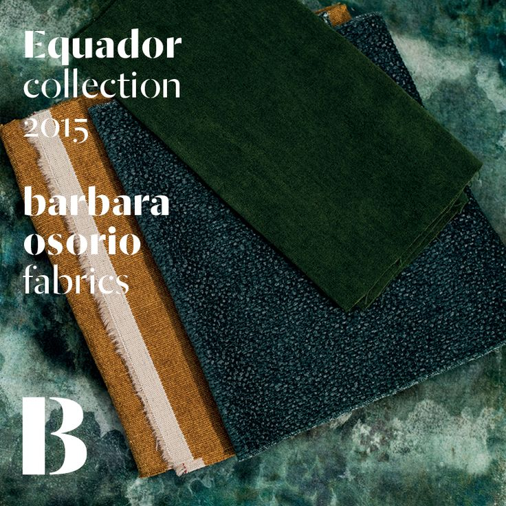 Equador collection 2015 by barbara osorio fabrics - B109 Cabumbé printed velvet; B110 Papaia; B112 Monte Café; B118 Atlântico