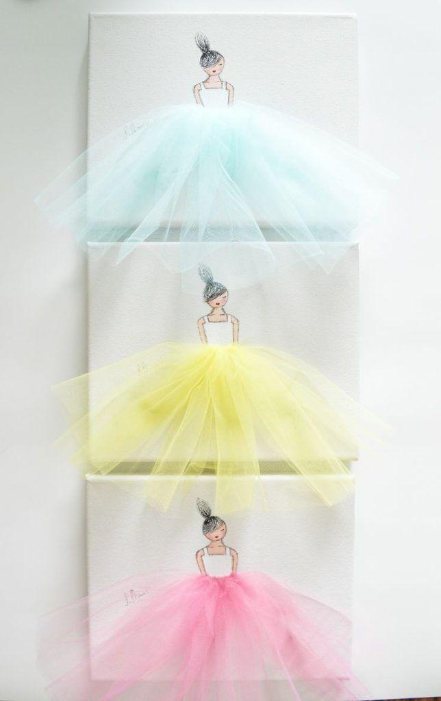 DIY ballerina canvas