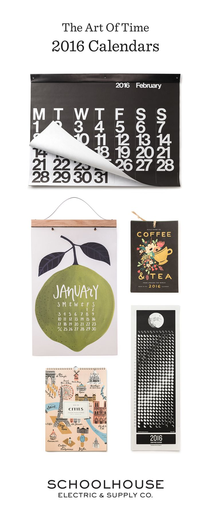 A new work of art each month | Shop 2016 calendars from Schoolhouse  Electric & Supply