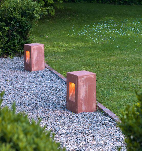 """""""Step"""" lampe ETHIMO 17 x 17 x 30 http://ethimo.fr/produit.asp?t=complements=éclairage=terre_cuite_lampe_step"""