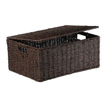 Storage Baskets & Boxes - Briscoes - Storage Box Seagrass Savona Dark S3