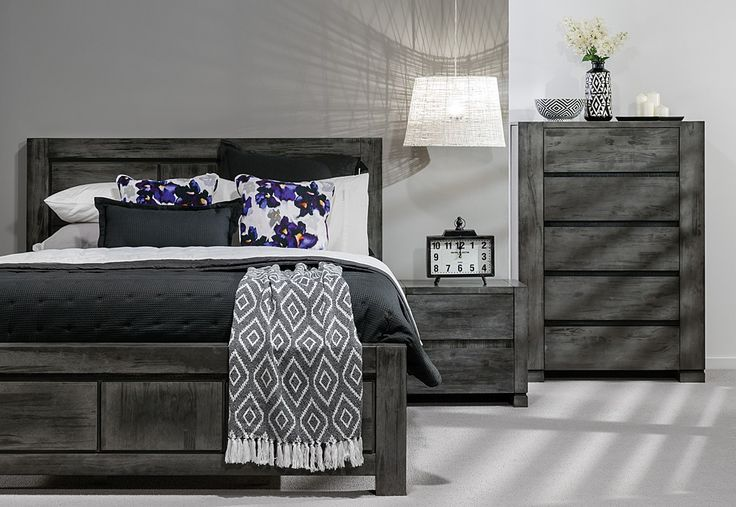 Swish 4 Piece Tall Chest Queen Bedroom Suite | Super A-Mart