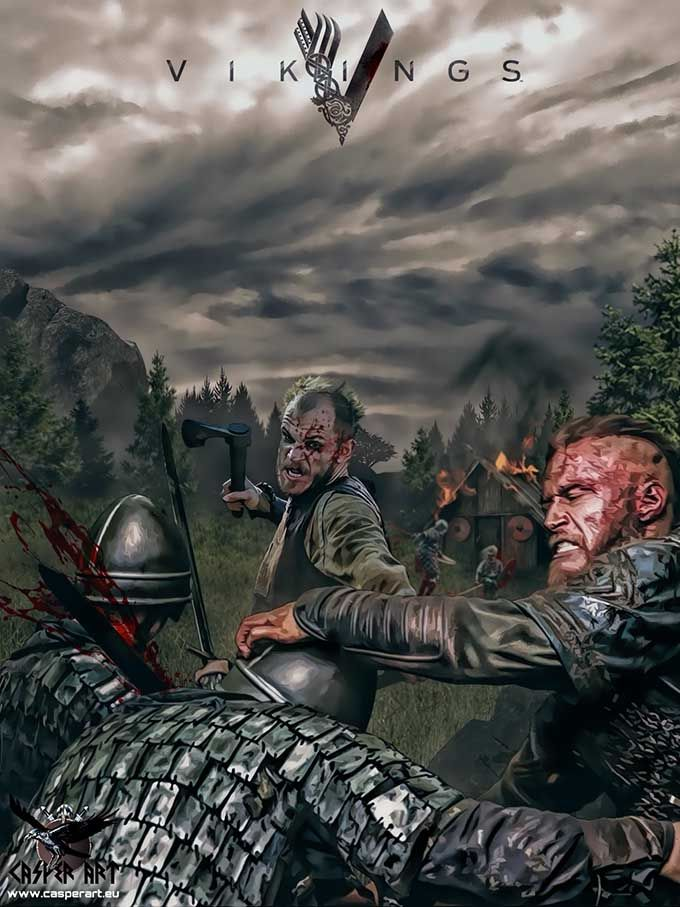 VIKINGS the Series, Ragnar Lothbrok and Floki>>> Something to pass time while waiting for the next season