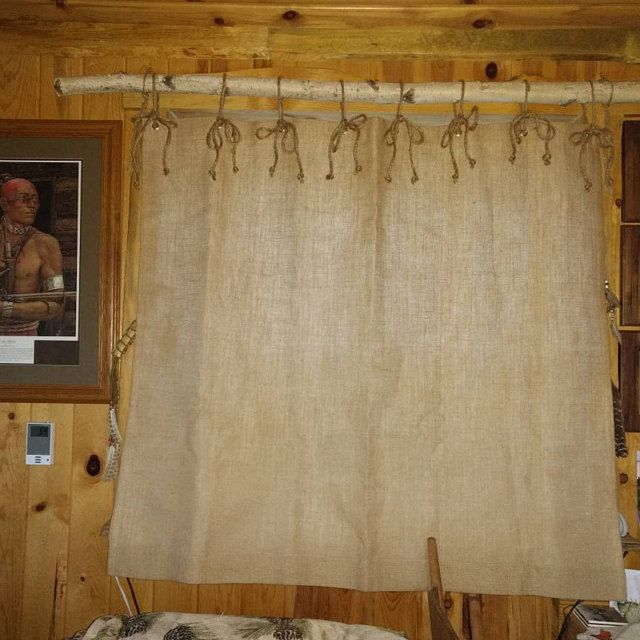 Burlap Shower Curtain 12 Sizes 40 Wide 72 Wide Etsy Burlap Shower Curtains Burlap Shower Country Cottage