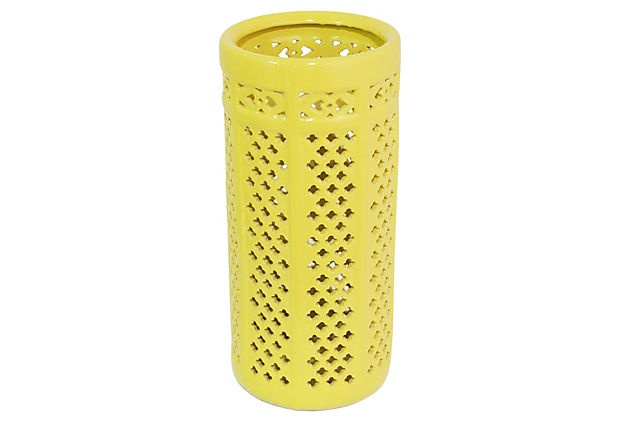 "18"" Pierced Umbrella Stand, Yellow on OneKingsLane.com"