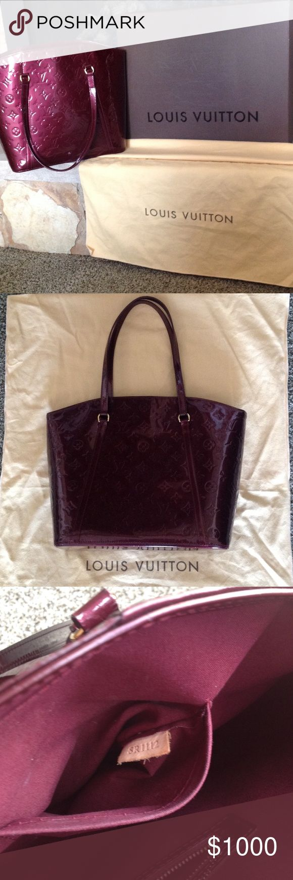 Louis  Vuitton Avalon GM handbag🎉🎉host pick 🎉🎉 Authentic Louis Vuitton handbag, price is firm, no offers will be taken, no trades. Measures 11 inches wide, 11 inches tall and 5 inches deep.  Dust bag is included. Will also include the receipt but my personal information will be cut out of receipt. Color is Rouge fauviste. Louis Vuitton Bags Shoulder Bags