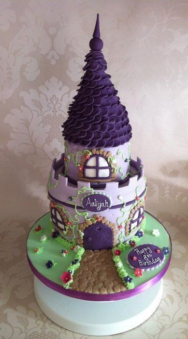 Girly Castle cake with a Tangled feel!