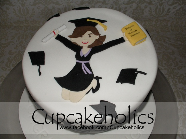 Graduation Cake - Top View by Cupcakeholics, via Flickr