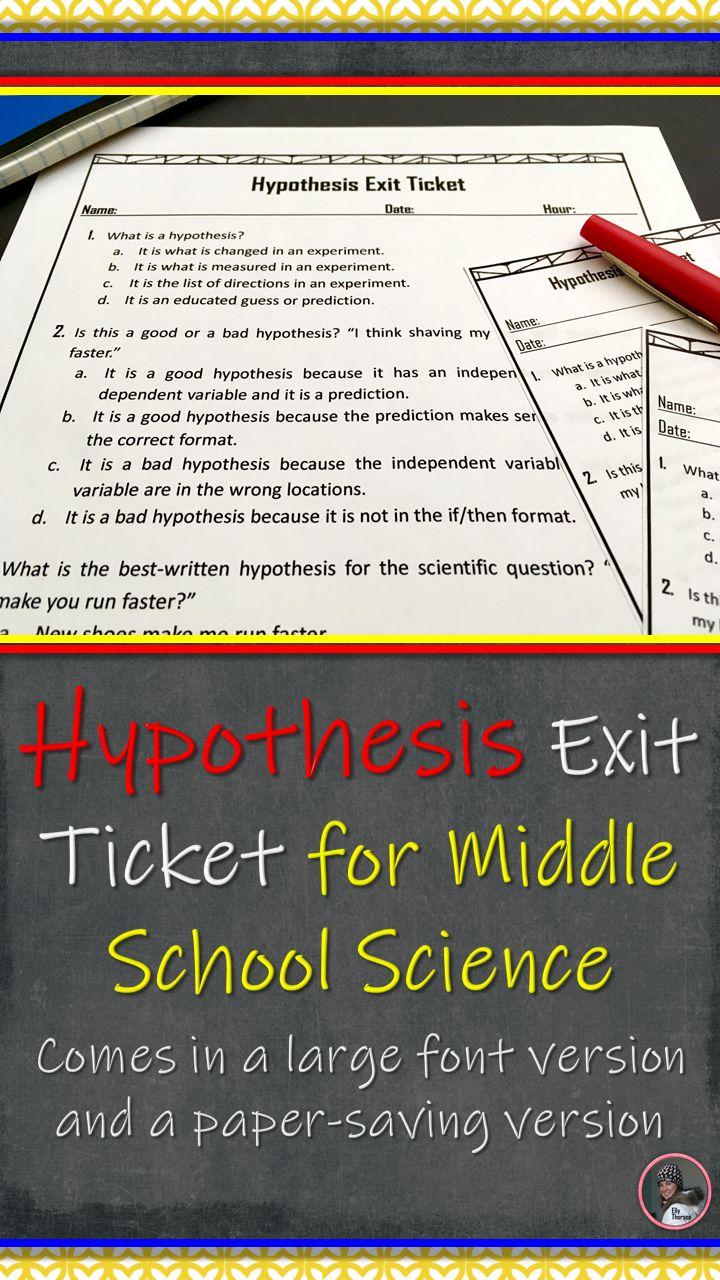 hypothesis exit ticket a scientific method assessment