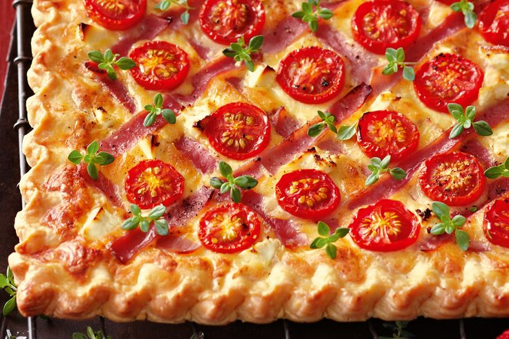 Ham & tomato tart