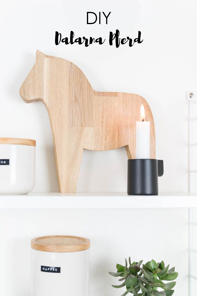 DIY Dalarna Pferd aus Holz sägen - Deko im Scandi Look für Hygge und Lagom Fans