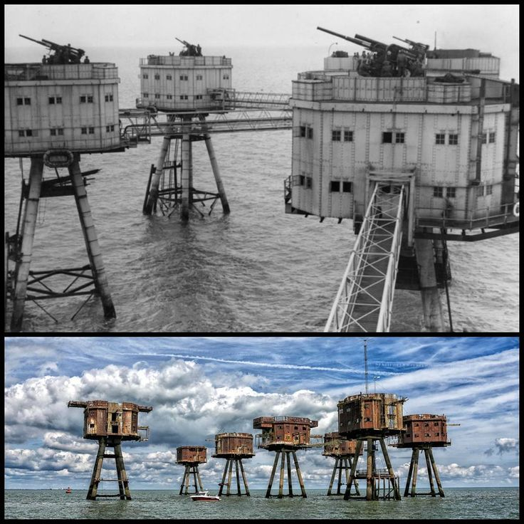 The Maunsell Forts are armed towers built in the Thames   and Mersey estuaries during the Second World War to help defend the United Kingdom. They were operated as army and navy forts, and named after their designer, Guy Maunsell.The forts were decommissioned in the late 1950s and later used for other activities including pirate radio broadcasting. One of the forts is managed by the unrecognised Principality of Sealand.