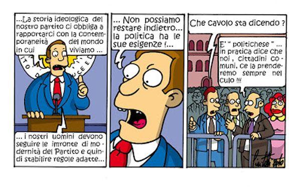 """Il """" Politichese"""" dei nostri politici... #IoSeguoItalianComics #Satira #Politica #Comics"""