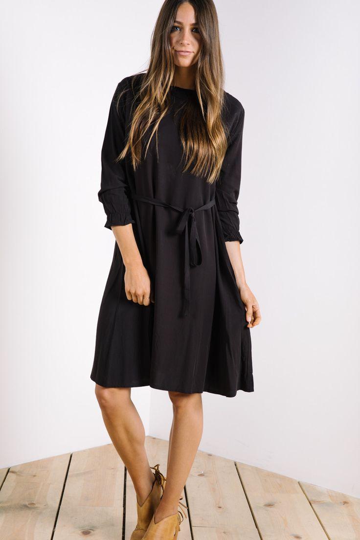 The Flirty High Neck Dress in Black