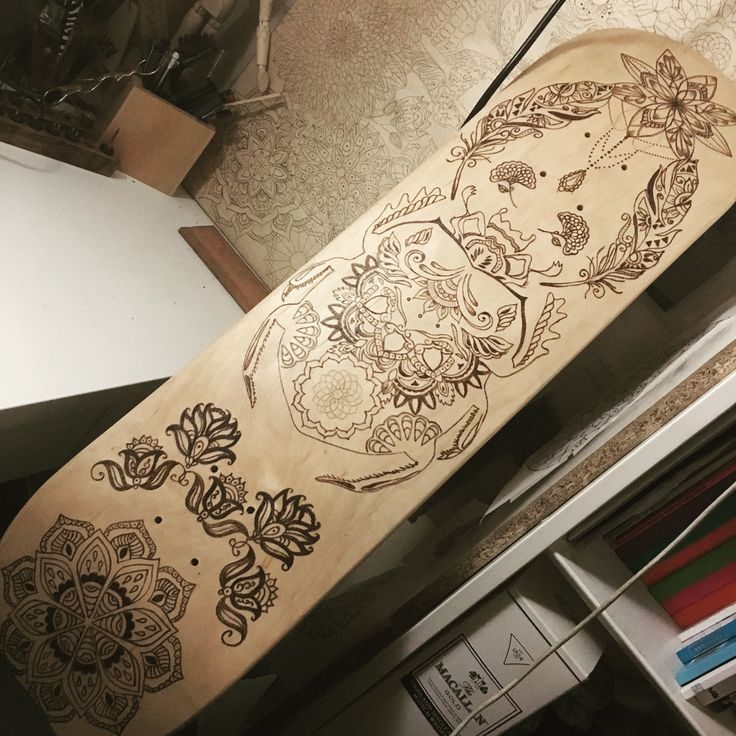 #pyrography #woodburning #skateboard #deck for sale