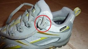 lacing technique for hiking shoes--save your toes!
