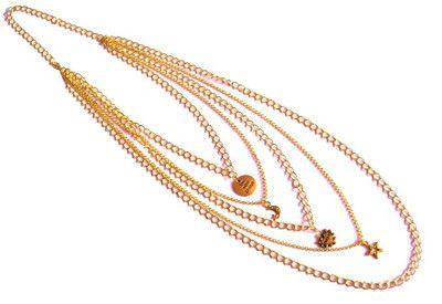 Naszyjnik ze Złotych Łańcuszków. Łańcuch Złoty. #naszyjnik #lancuszek #necklace #chain #charms