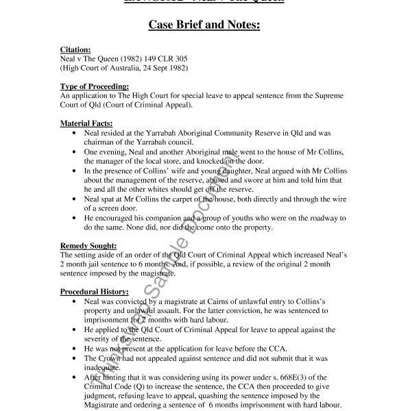 Case Brief Template Business Mentor Brief Templates