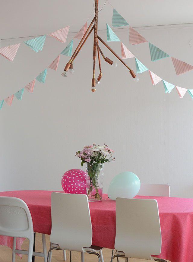 barnkalas, flaggspel Hemma med Helena | Bloggar om pyssel, mat, bak och hemmafix