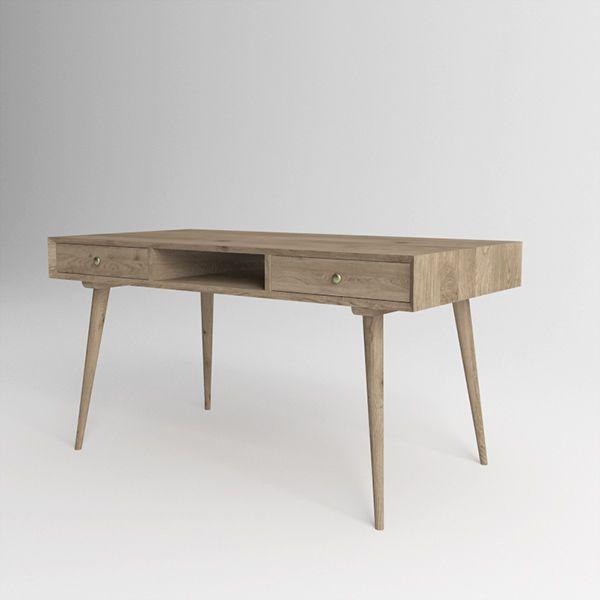 Письменный стол Jordan из массива дуба. Артикул: D001. Размеры ДхШхВ: 135x60x75 см. Материал: дуб. Цвет: натуральный дуб