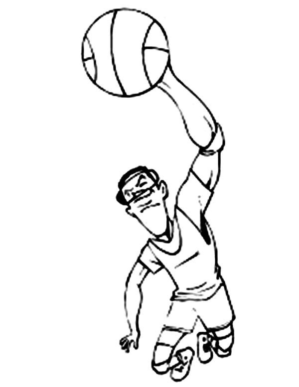 Michael Jordan Dunking Coloring Pages Coloring Pages Slam Dunk Nba