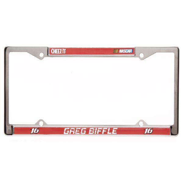 "Greg Biffle 6"" x 12"" 2016 License Plate Frame - $6.99"