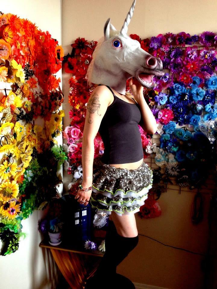 My custom tutu from Glitter Bubbles (www.glitterbubbles.com). Part of a dreamy Derpy Hooves cosplay!