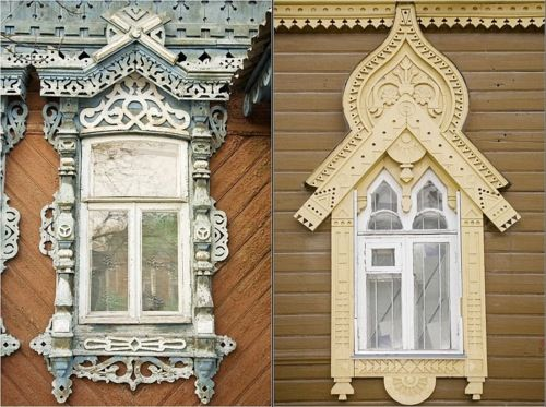 Carved window platbands in the city of Ryazan', photo by Ivan Khafizov