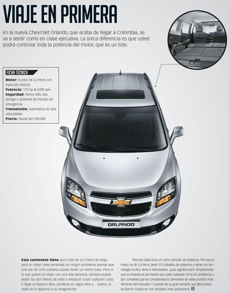 En la nueva Chevrolet Orlando, que acaba de llegar a Colombia, se va a sentir como en clase ejecutiva.