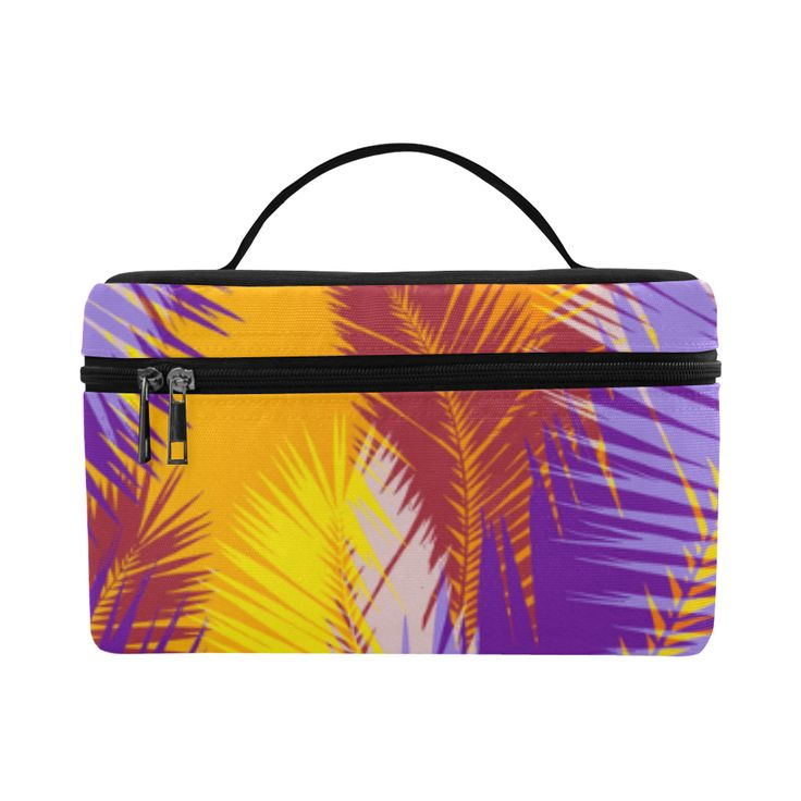 Tropical summer pop art Cosmetic Bag/Large by Scar Design  #toiletrybag #toiletry #cosmeticbag #travelbag #travel #weekendtravelbag #family #onlineshopping #shopping #artsadd #gifts #scardesign #bag #style #fashion #giftsforhim #giftsforher #39 #design #modern #summer #palmleaf #toiletrytravelbag
