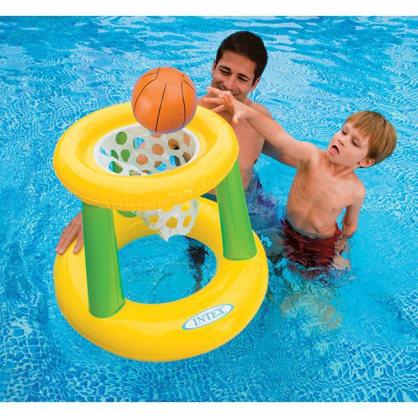 Affordable Swimming Pool Lake Floating Basketball Game Water Toy Ages 3 and Up #Intex