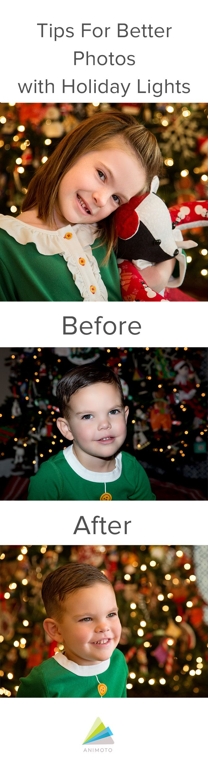 Tutorial on how to take photographs with holiday lights.