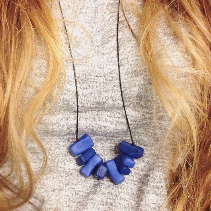 Blue Collusion! #clay #DIY #oven #bake #necklace