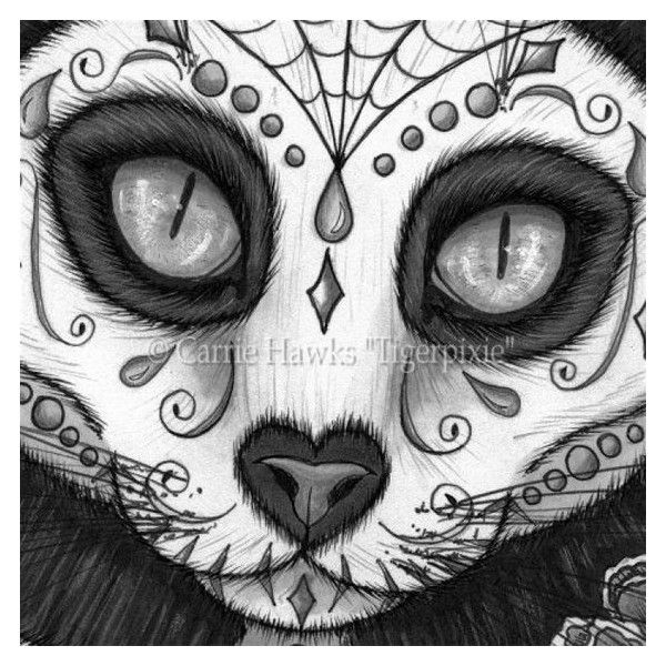 le canvas day of the dead cat skull liked on polyvore featuring home home decor wall art skull black and white wall art canvas wall art