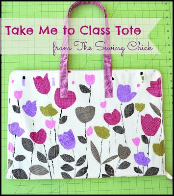 Sew in Love {with Fabric}: Holiday Headstart Blog Hop: Day 1 ~ Take Me to Class Tote (gotta have one!)