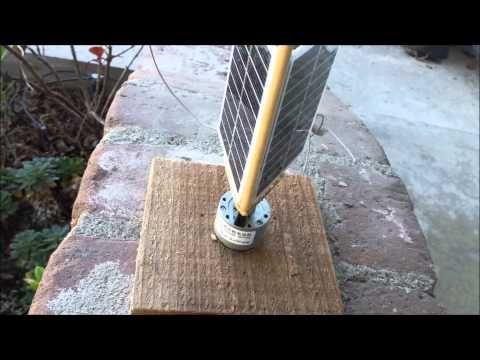 Simple Solar tracker - YouTube