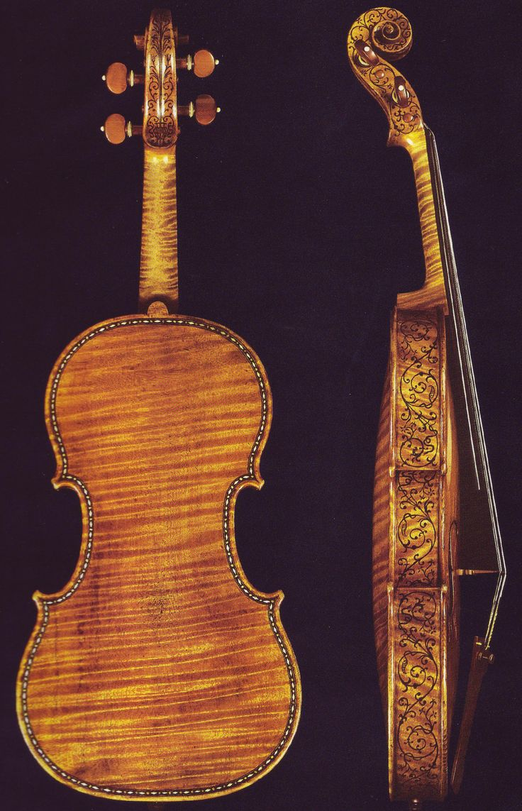 The Heller Stradivarius -- one of the most famous violins made by the most famous violin makers.  http://upload.wikimedia.org/wikipedia/en/7/71/HellierBack.jpg