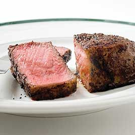 made this tonight, best steak ever! Pan-Seared Thick-Cut Strip Steaks ...