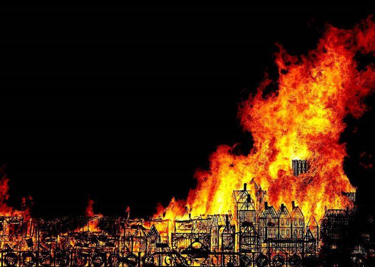 Pour célébrer le Grand incendie de Londres de 1666, une maquette de 120 mètres…