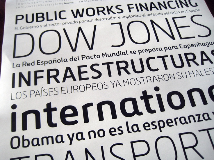 Ferrovial. A custom typeface designed for Ferrovial.
