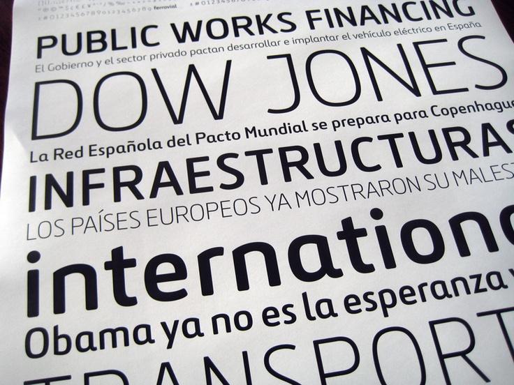 Ferrovial. A custom typeface designed for Ferrovial.