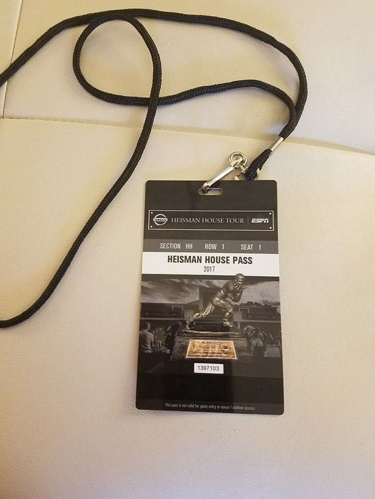 2018 College Football National Championship Heisman House Pass / Credential.