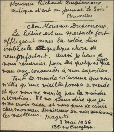 Magritte et sa lettre magique